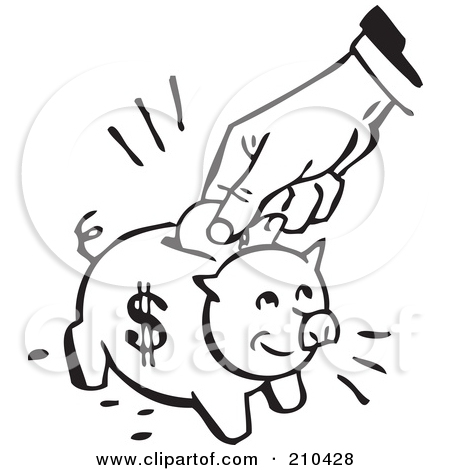 Free piggy bank clipart black and white svg black and white download Royalty Free Piggy Bank Illustrations by BestVector Page 1 svg black and white download