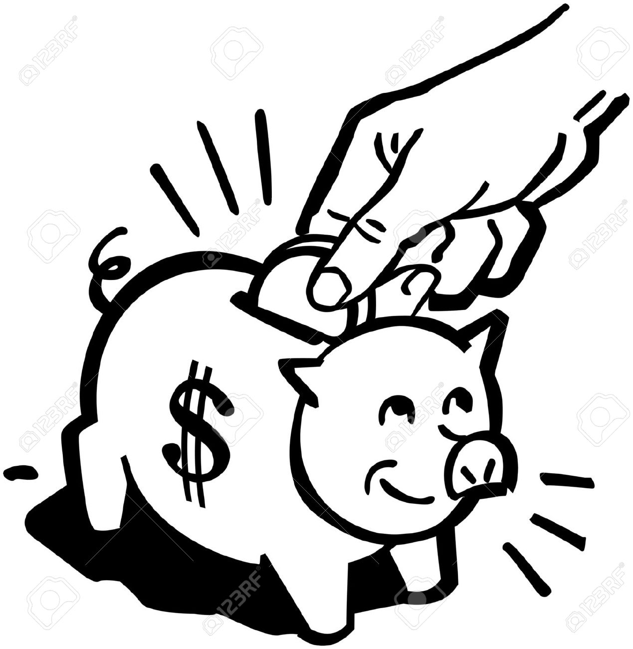 Free piggy bank clipart black and white image Bank Of Clip Art Stock Photos & Pictures. Royalty Free Bank Of ... image
