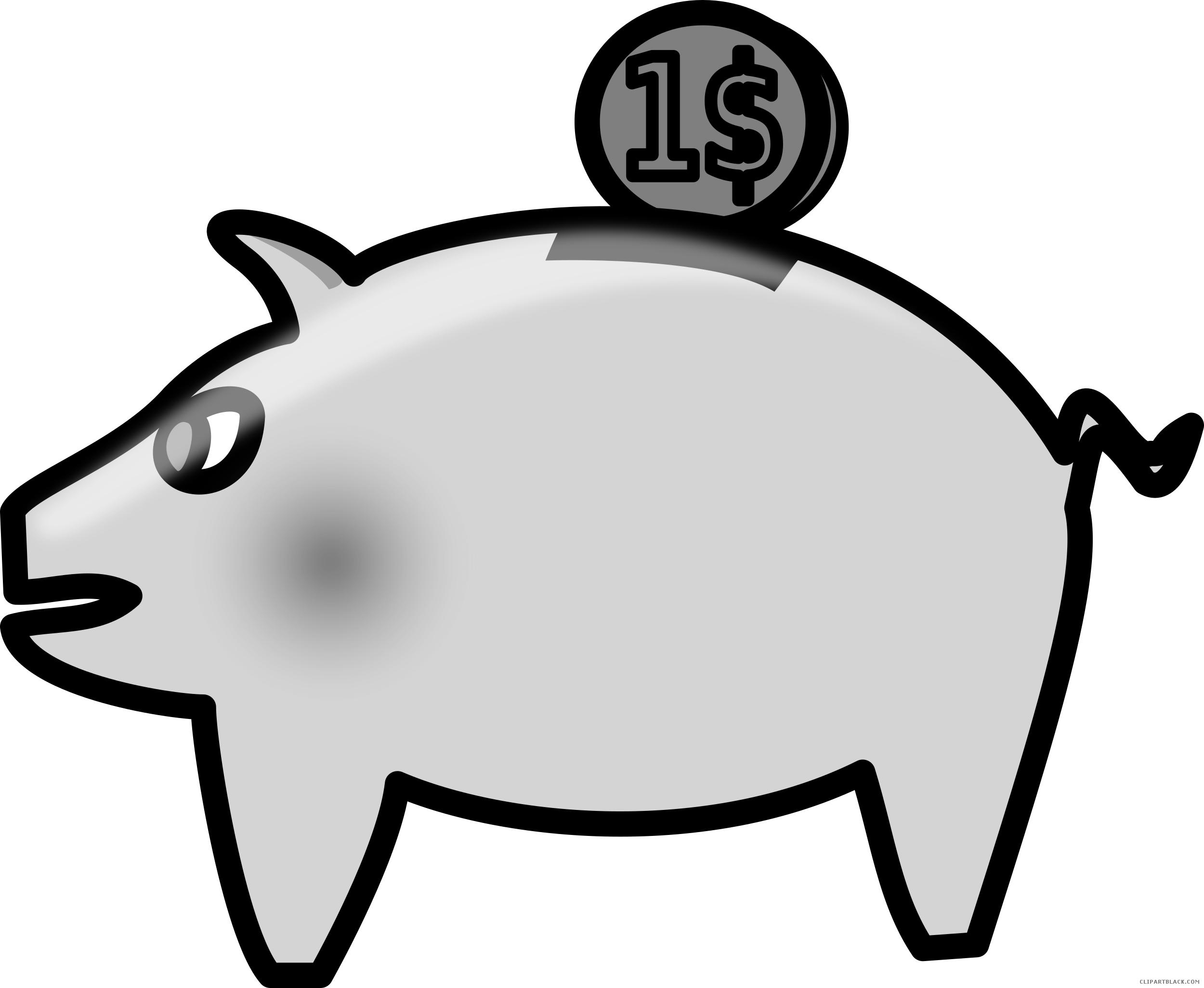 Free piggy bank clipart black and white jpg transparent Piggy Bank Clipart - ClipartBlack.com jpg transparent