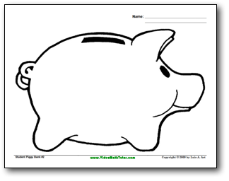 Free piggy bank clipart black and white clip art free download Piggy Bank Outline Clipart - Clipart Kid clip art free download