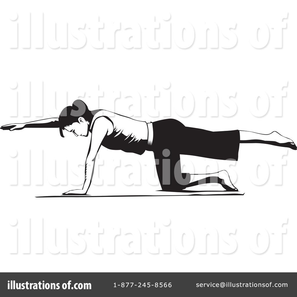Free pilates clipart clip art freeuse stock Pilates Clipart #1134360 - Illustration by David Rey clip art freeuse stock