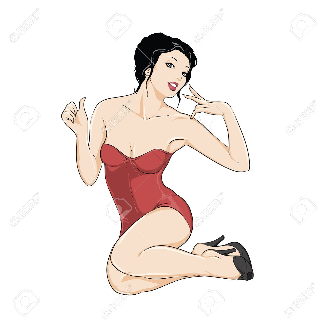 Free pinup clipart svg freeuse download 14+ Pin Up Girl Clipart | ClipartLook svg freeuse download