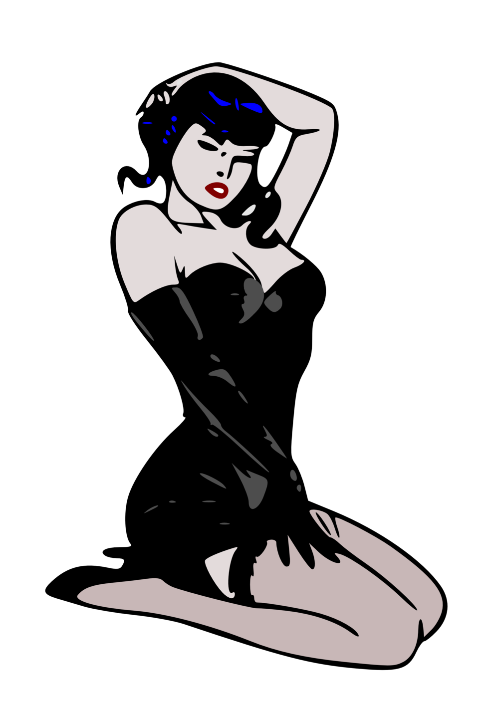 Free pin up girl clipart freeuse library Public Domain Clip Art Image | Pin-up girl | ID: 13526053816201 ... freeuse library