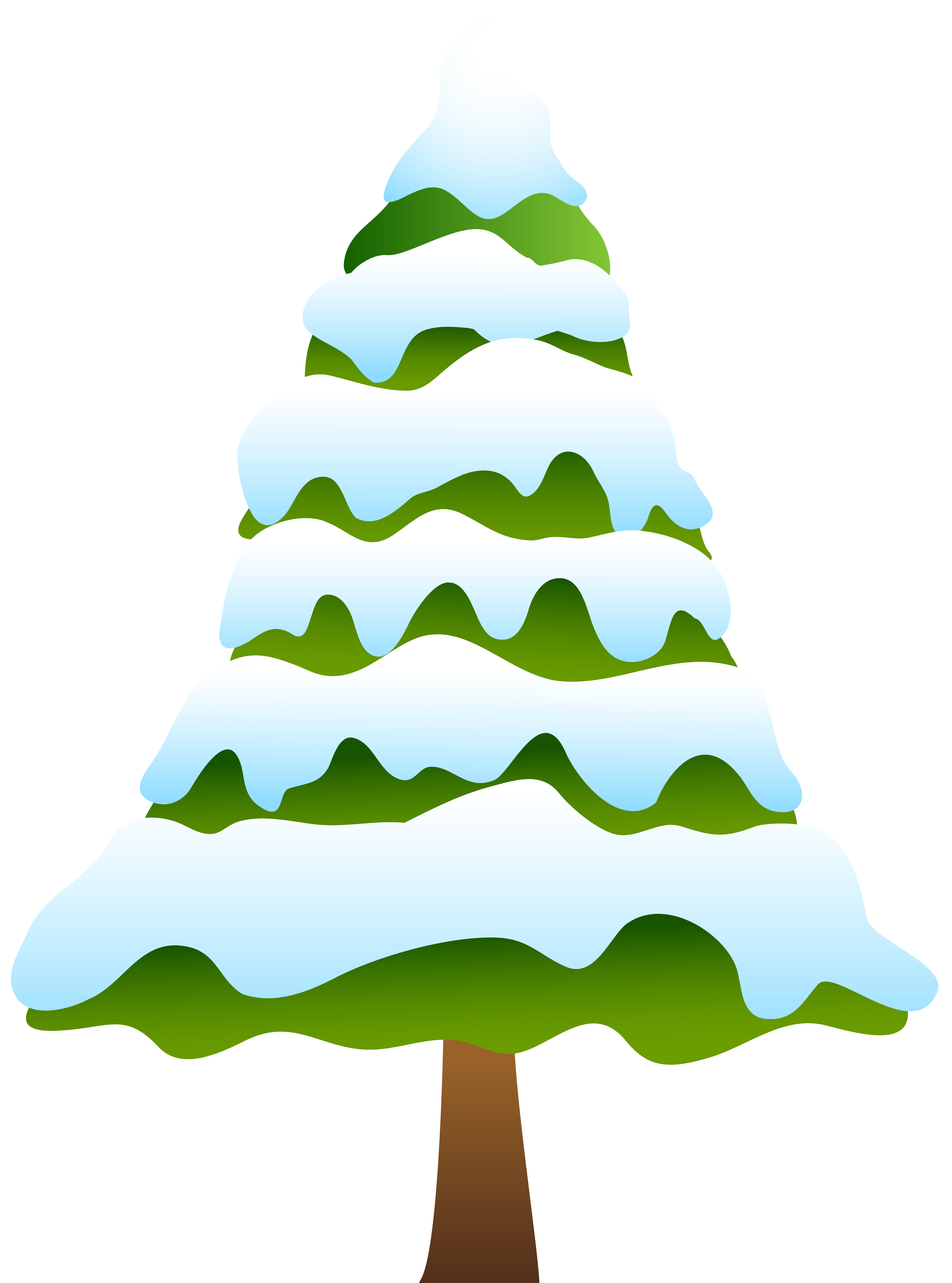 Snowy tree clipart clipart freeuse download Snowy Pine Tree Clip Art PNG Image | Gallery Yopriceville - High ... clipart freeuse download