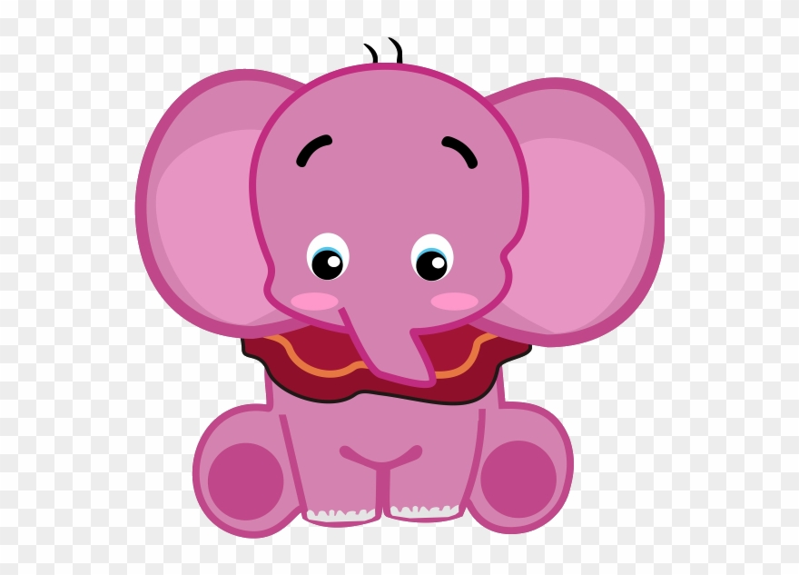 Free pink elephant clipart. Download elephants seeing