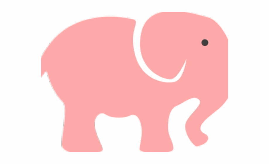 Baby shower transparent . Free pink elephant clipart