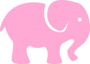Light clip art at. Free pink elephant clipart