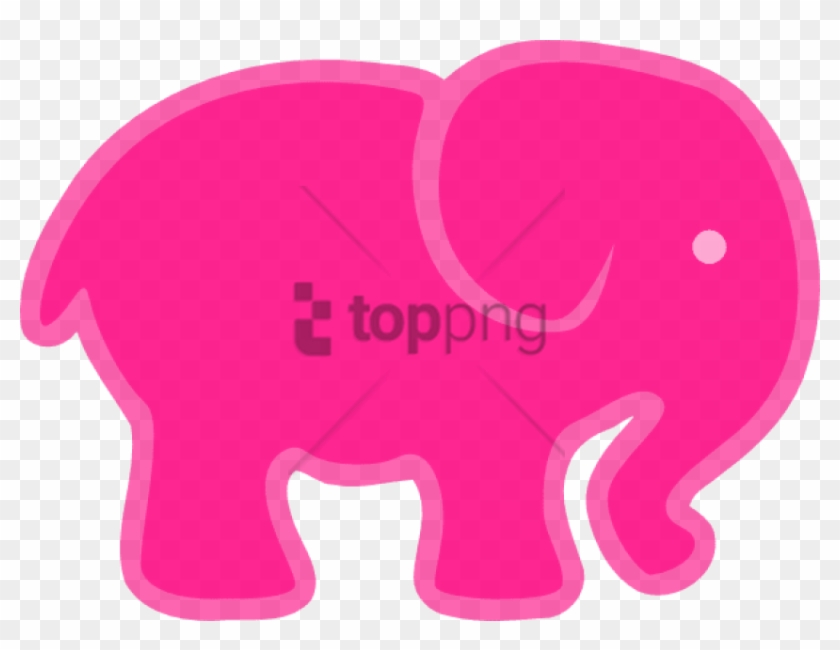 Free pink elephant clipart. Png image with transparent