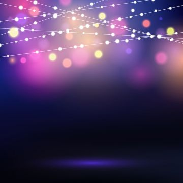 Free pink fairy string lights clipart background. Png vector psd and