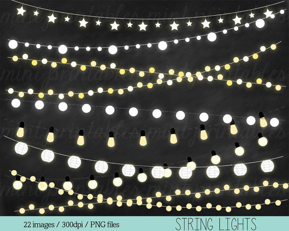 Free pink fairy string lights clipart background. Clip art