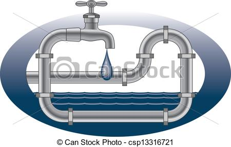 Free plumbing logos clip art svg freeuse download Vector Illustration of Dripping Faucet Plumbing Design ... svg freeuse download