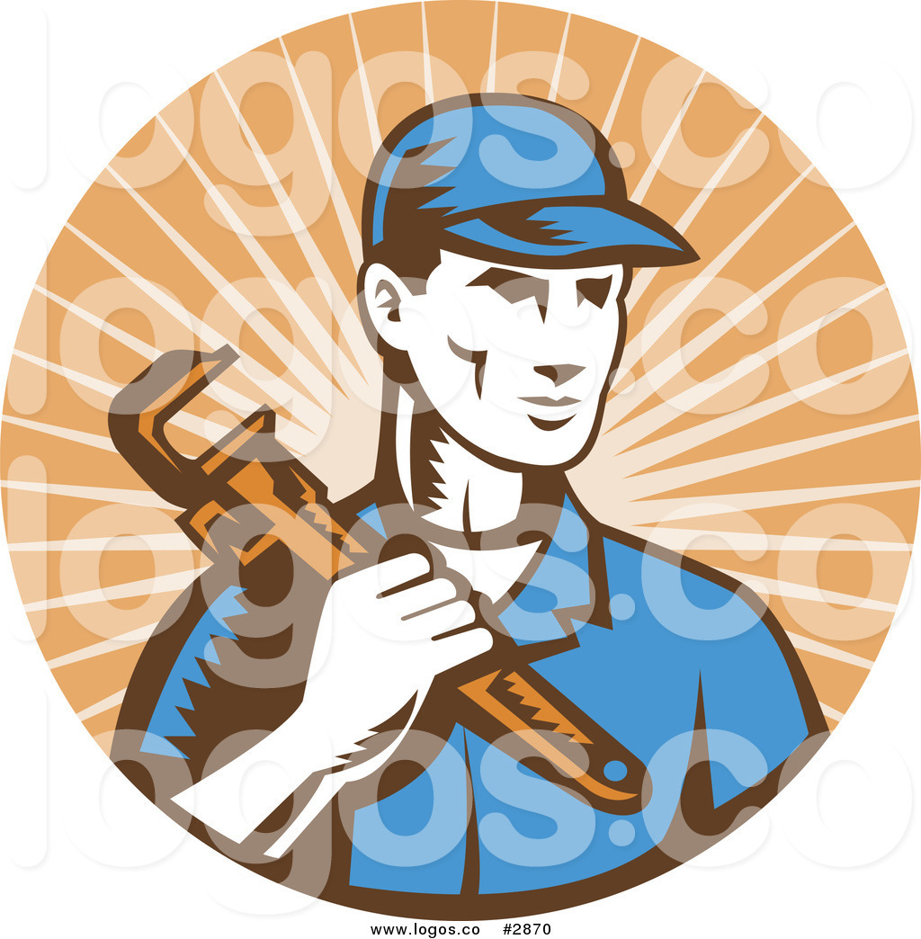 Free plumbing logos clipart graphic royalty free Royalty Free Plumber over Beige Rays Logo by patrimonio - #2870 graphic royalty free