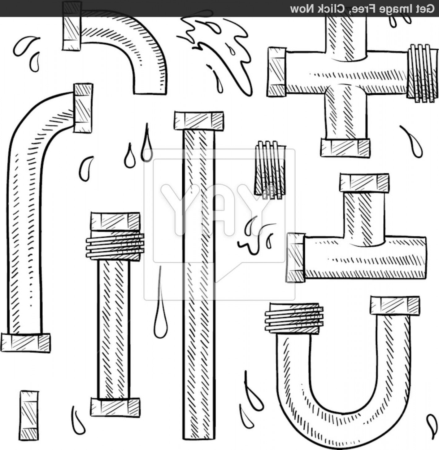 Free plumbing pipes clipart clip art black and white library Free Collectionpdwn Plumbing Pipes Clipart Graphic | Vectory clip art black and white library