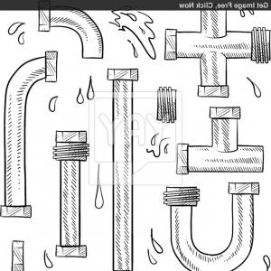 Free plumbing pipes clipart clipart black and white stock Free Collectionpdwn Plumbing Pipes Clipart Graphic | Vectory clipart black and white stock