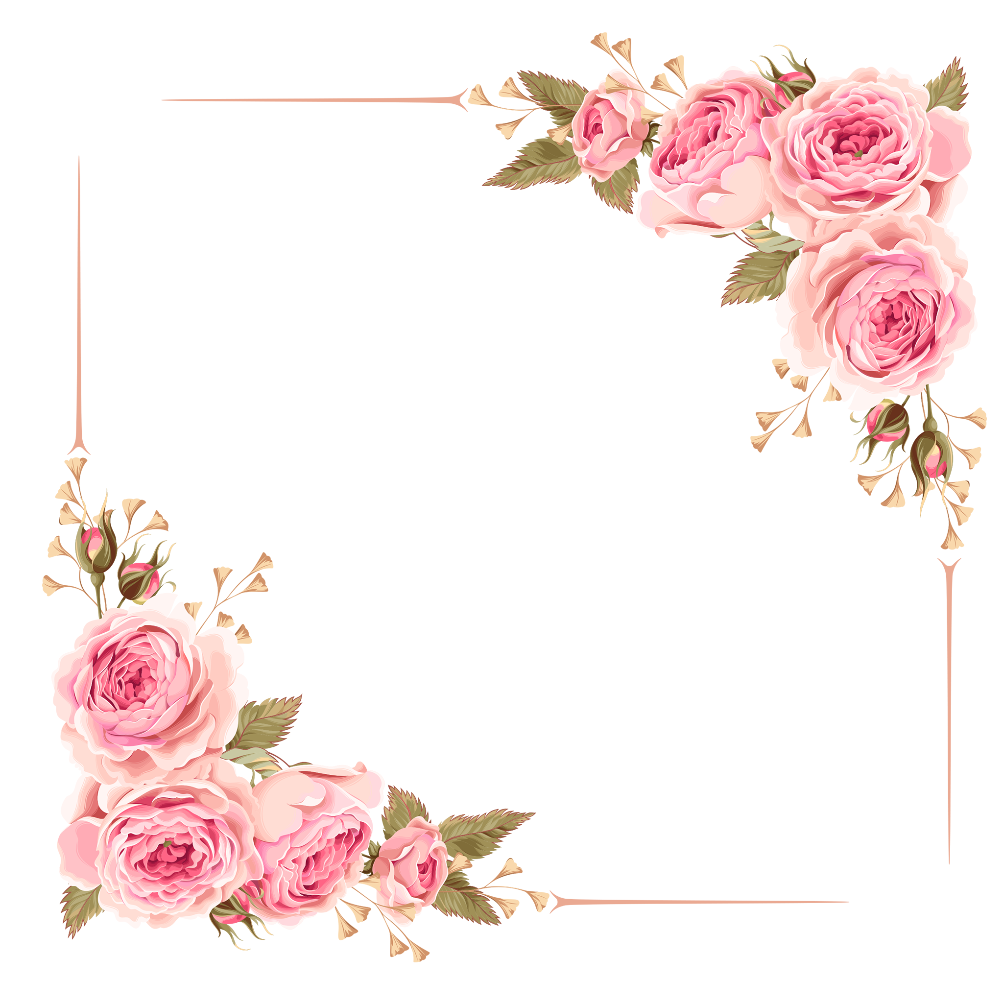 Free png clipart download clip transparent Download Free png Flower Border, Flower Clipart, Frame, Border PNG ... clip transparent
