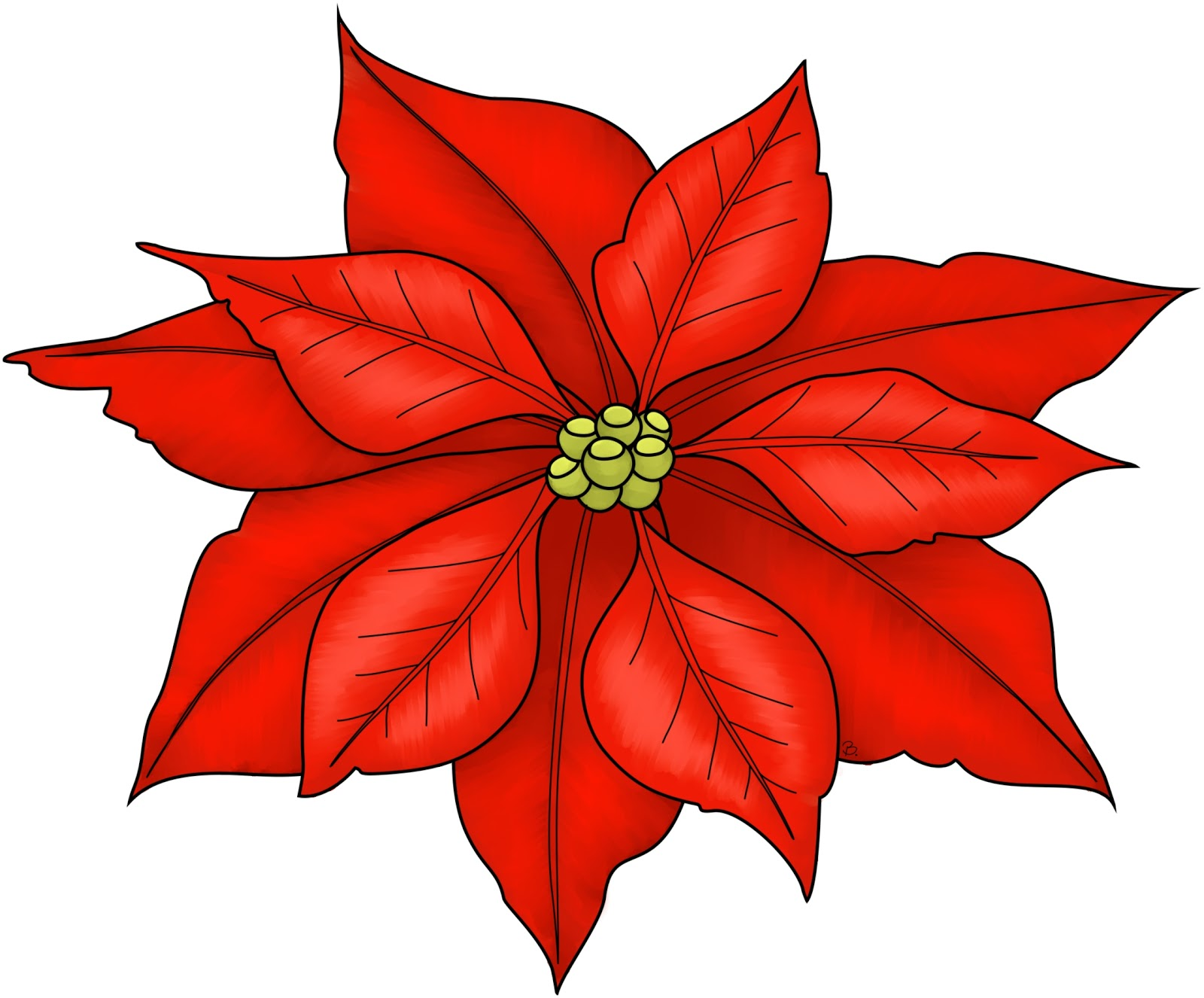 clipartlook. Free poinsettia clipart images