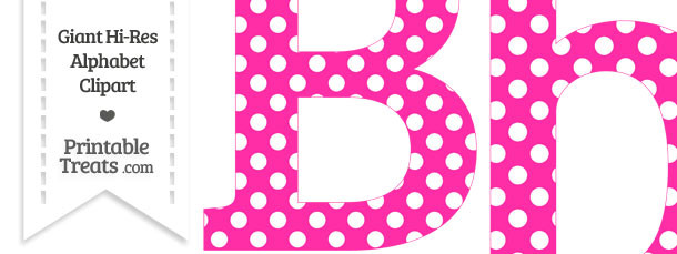 Free polka dot alphabet clipart