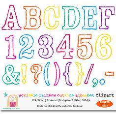 Free polka dot alphabet clipart jpg freeuse library Rainbow Alphabet Clipart, BUMPER PACK, Polka Dot Letter Clipart ... jpg freeuse library