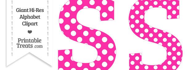 Free polka dot alphabet clipart royalty free stock Hot Pink Polka Dot Letter S Clipart — Printable Treats.com royalty free stock