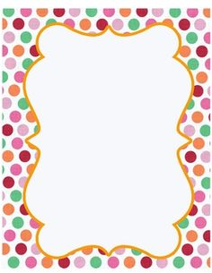 Free polka dot border clipart. Download best