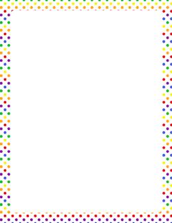 Free polka dot border clipart. Borders clip art page