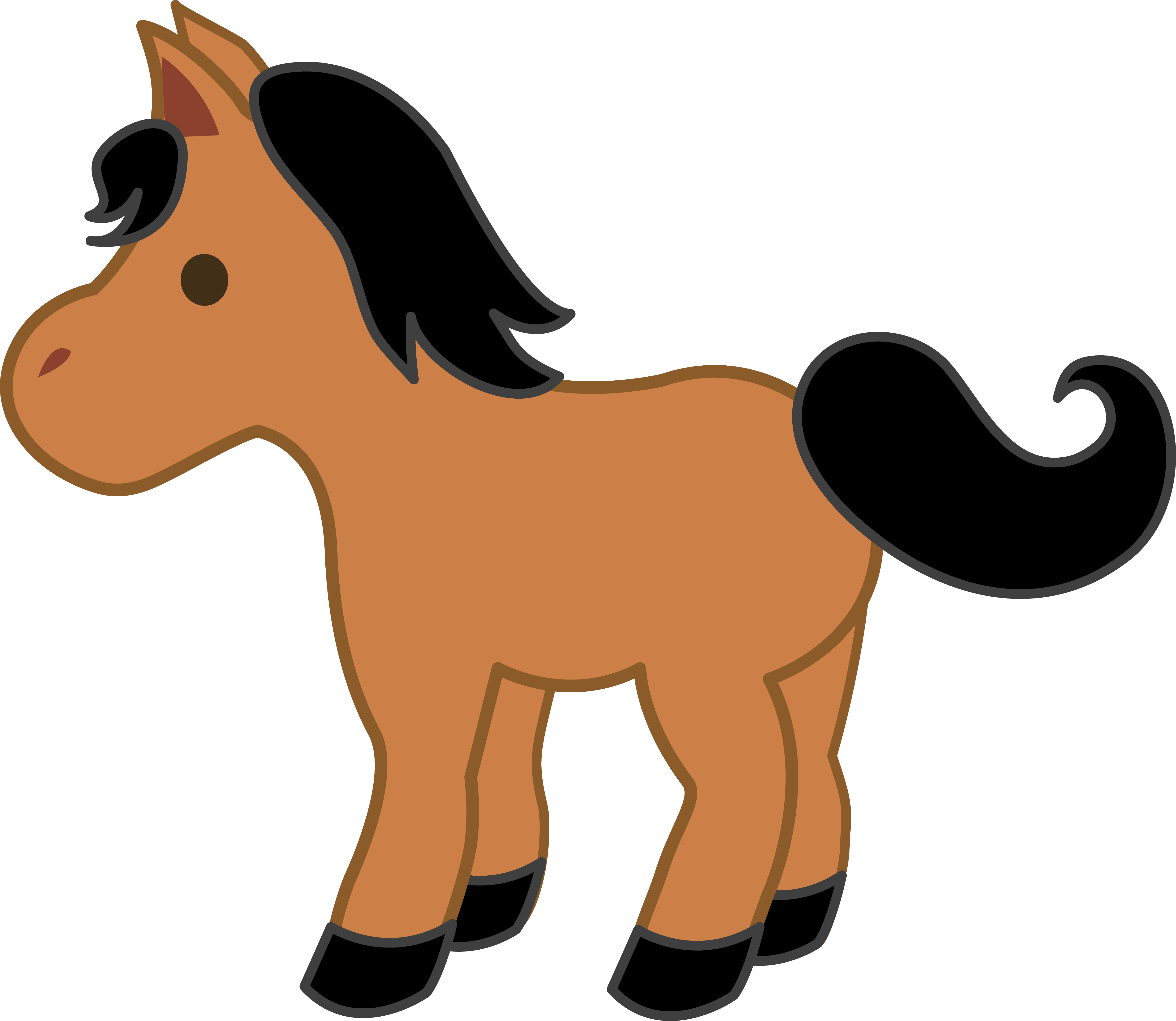 Free pony clipart. To download images