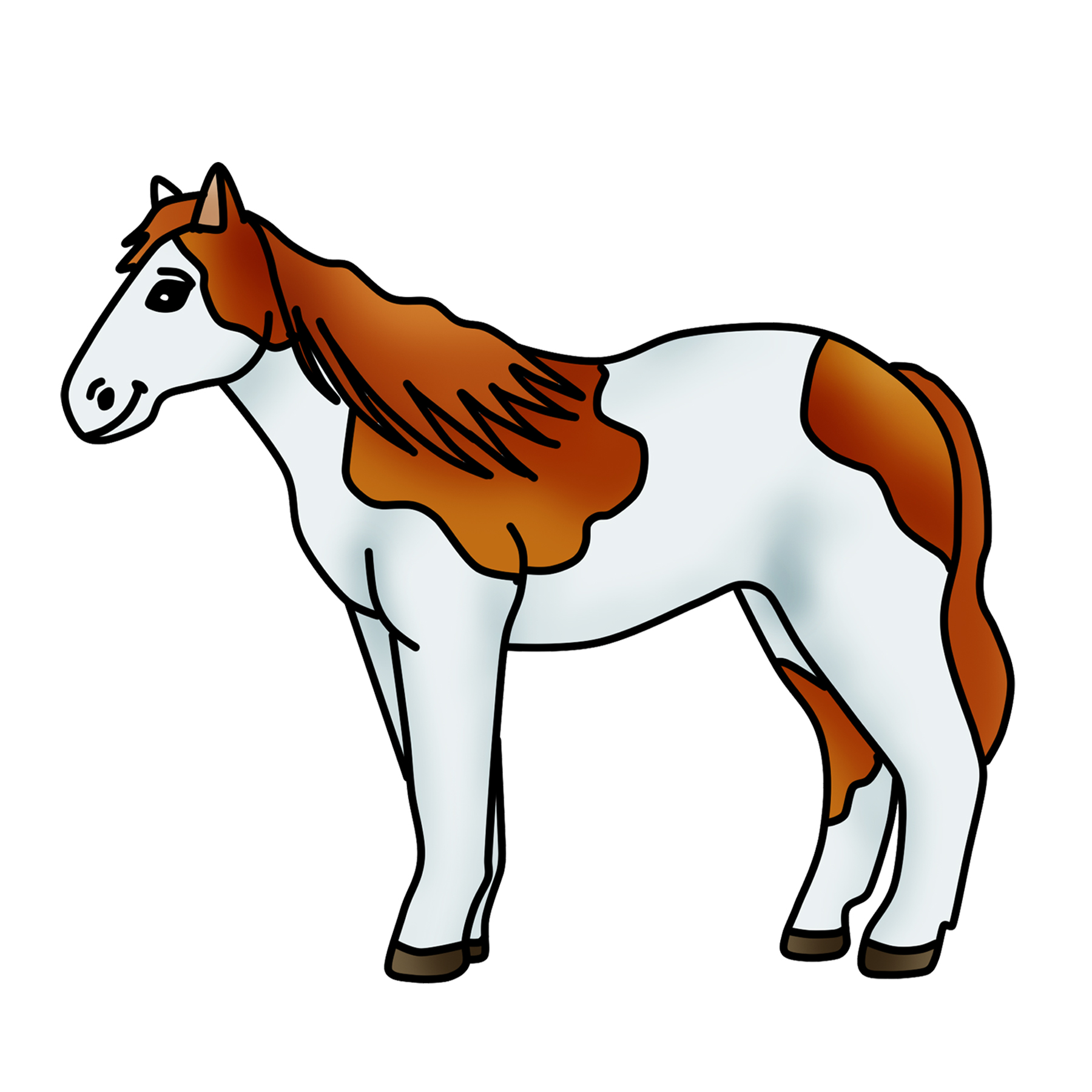 Horse clipart pic picture royalty free download Spotted Horse Clipart Pony Graphic - Free Clipart by Clipart 4 School picture royalty free download