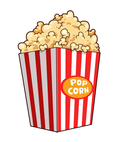 To use cliparts . Free popcorn clipart