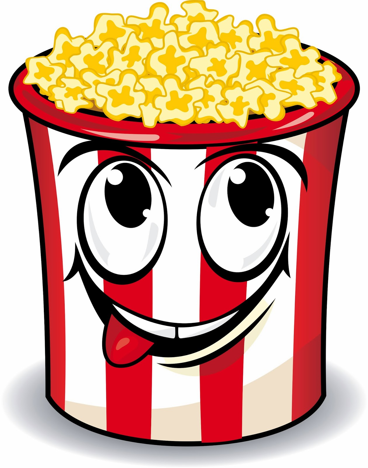 Look at clip art. Free popcorn clipart