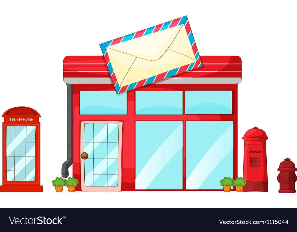 Free post office clipart. Royalty vector image vectorstock
