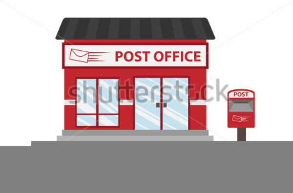 Building images at clker. Free post office clipart