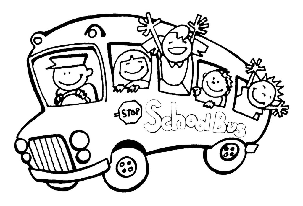 Free printable black and white clipart for teachers. Bus school wikiclipart