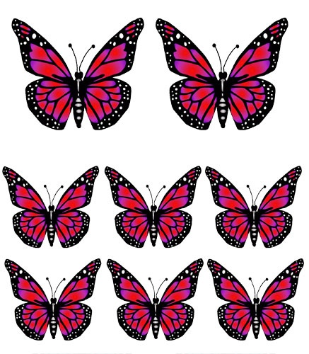 Free printable butterfly clipart clip black and white stock Butterfly clipart printable - ClipartFest clip black and white stock