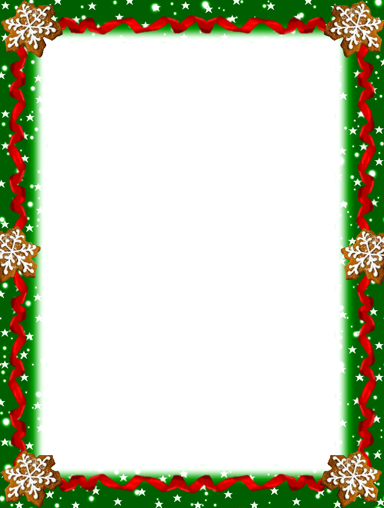 Free printable christmas border clipart. Stationery