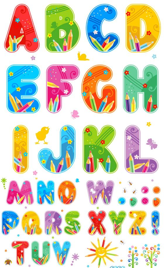 Free printable clip art alphabet letters banner freeuse Free Printable Funny Alphabet Letters | summer alphabet vector set ... banner freeuse