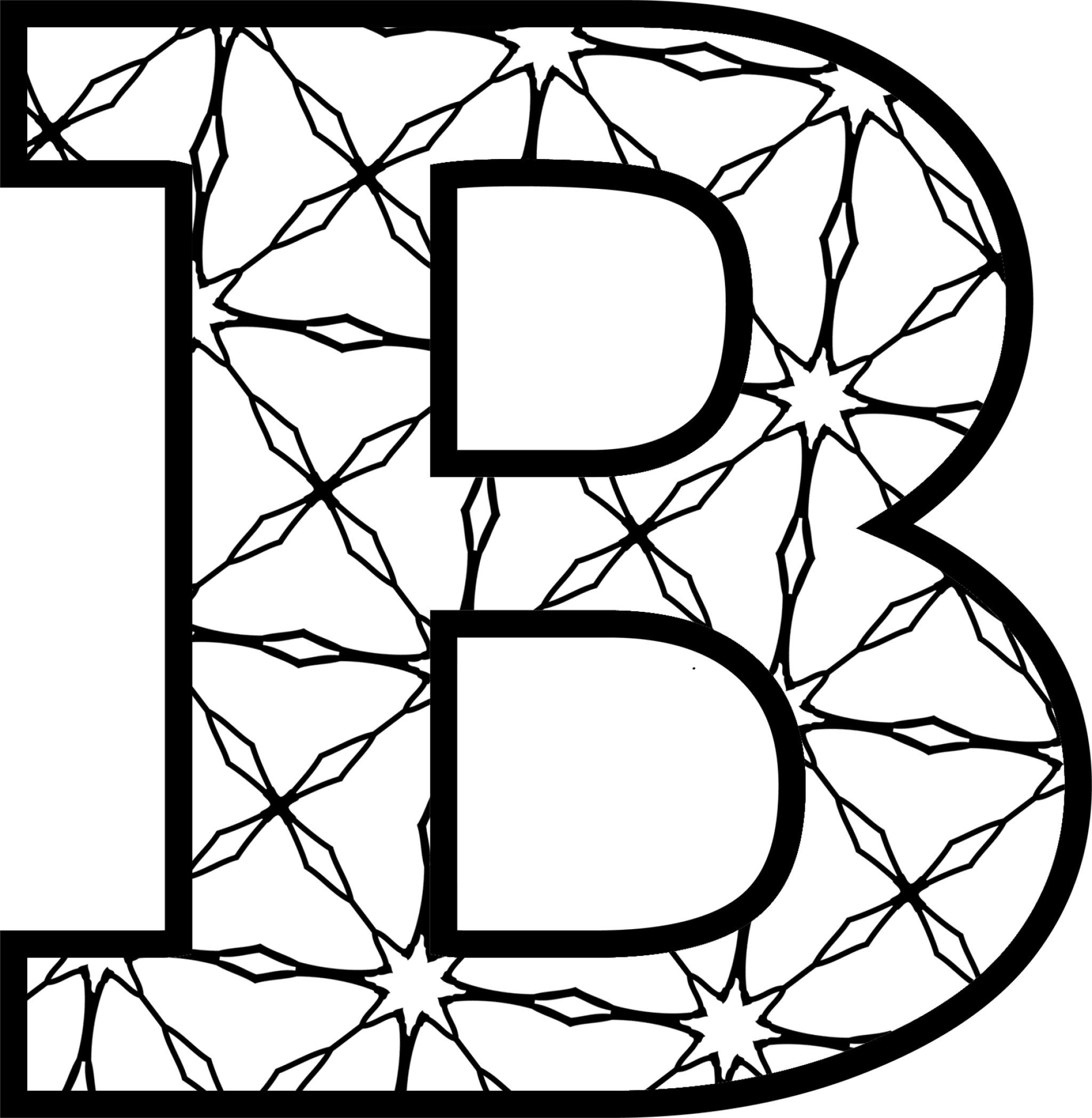 Free printable clip art alphabet letters picture transparent download Free Printable Alphabet Letters B Coloring Pages - Womanmate.com picture transparent download