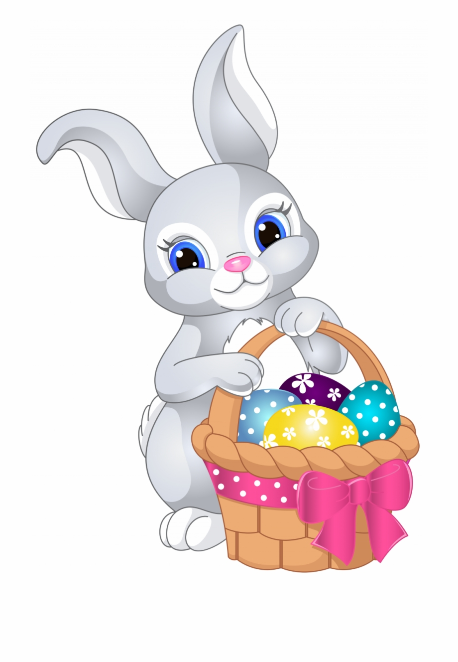Free printable clipart for easter jpg transparent stock Free Printable Easter Clipart - Cute Cartoon Easter Bunny ... jpg transparent stock