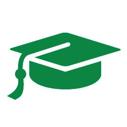 Free printable clipart green cap and gown 2020. Graduation party ideas high