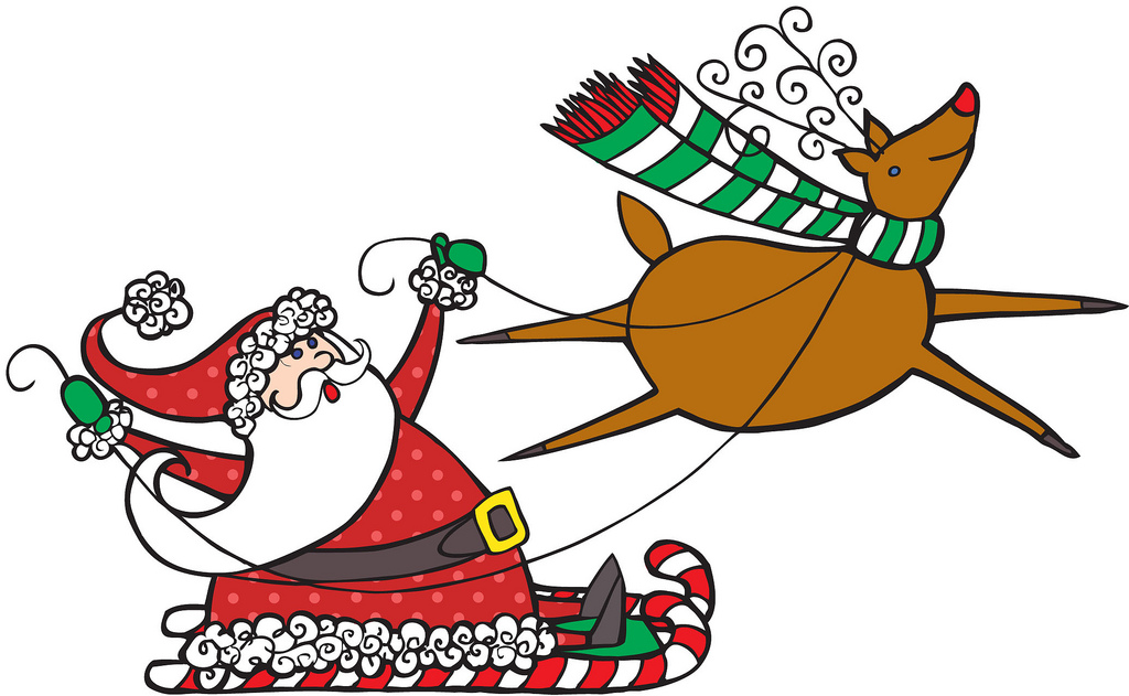 Santa reindeer clipart free png Free Santa And Reindeer Clipart, Download Free Clip Art, Free Clip ... png