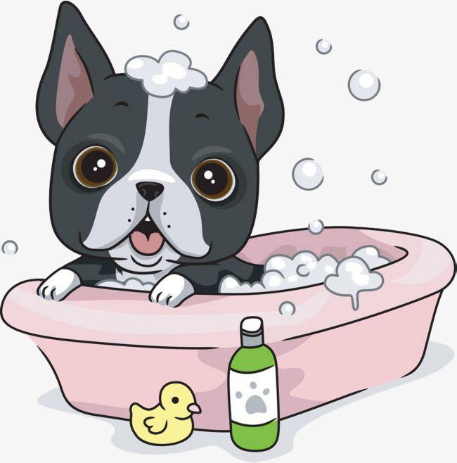 Free printable dog bubble bath clipart silhouette. Dogs take a bathtub