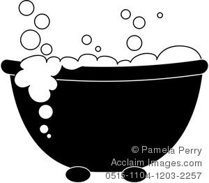 Clip art image of. Free printable dog bubble bath clipart silhouette