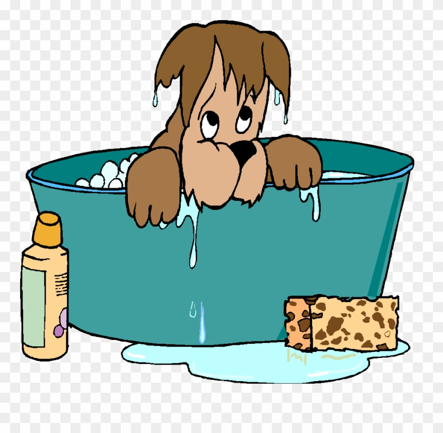 Free printable dog bubble bath clipart silhouette. Clip art grooming png