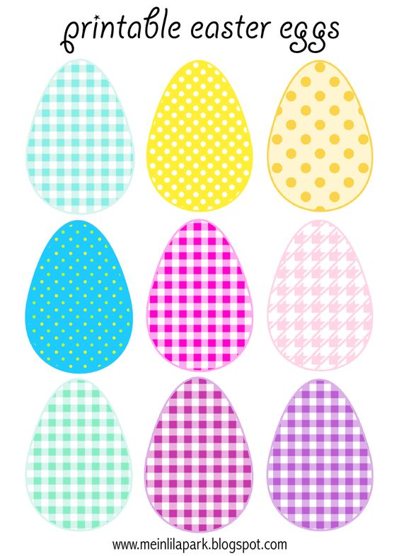 Free printable easter egg clipart clipart freeuse FREE printable Easter Eggs (in 3 different sizes) | FREE ... clipart freeuse