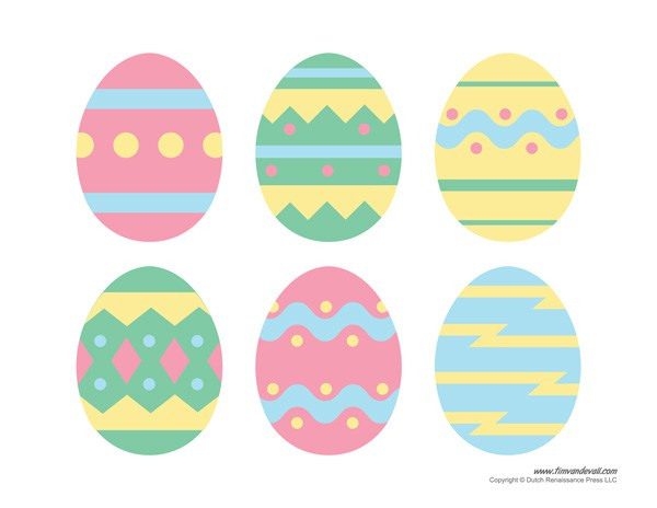 Free printable easter egg clipart picture black and white download Egg Templates. early play templates simple easter egg templates ... picture black and white download