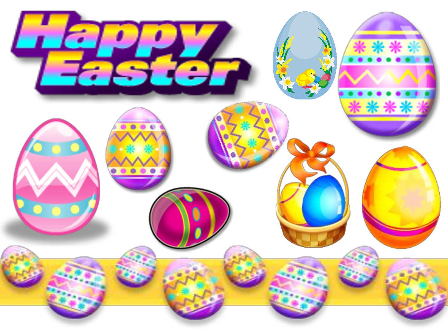 Free printable easter egg clipart banner free Free printable easter clip art - ClipartFest banner free