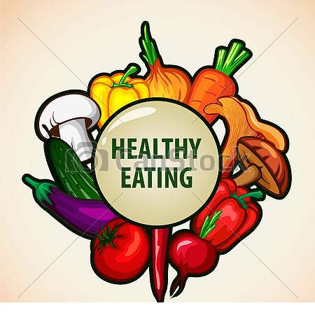 Nutritious healthy menu vector. Free printable food clipart