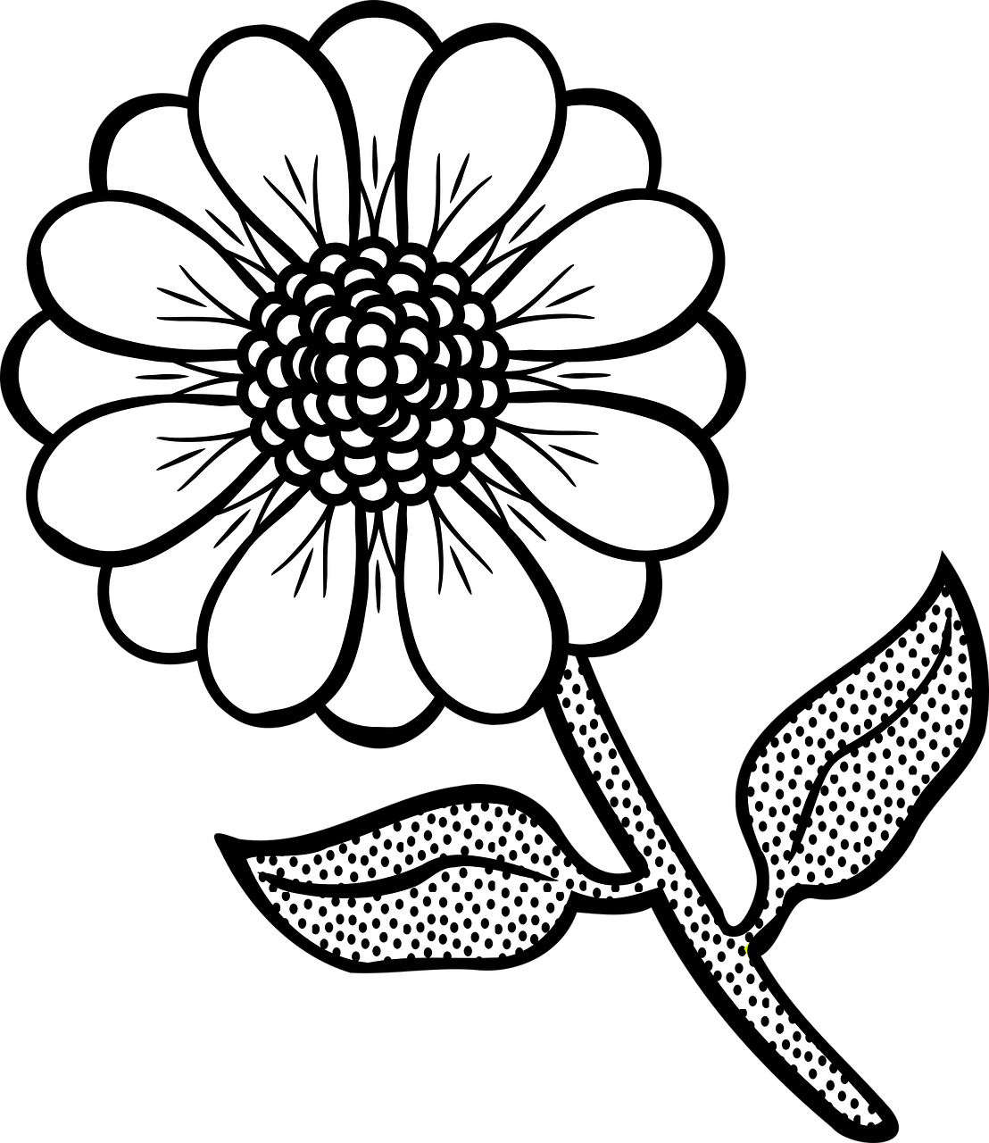 Free printable images of flowers png library library Free printable flower coloring pages: 16 pics - HOW-TO-DRAW in 1 minute png library library