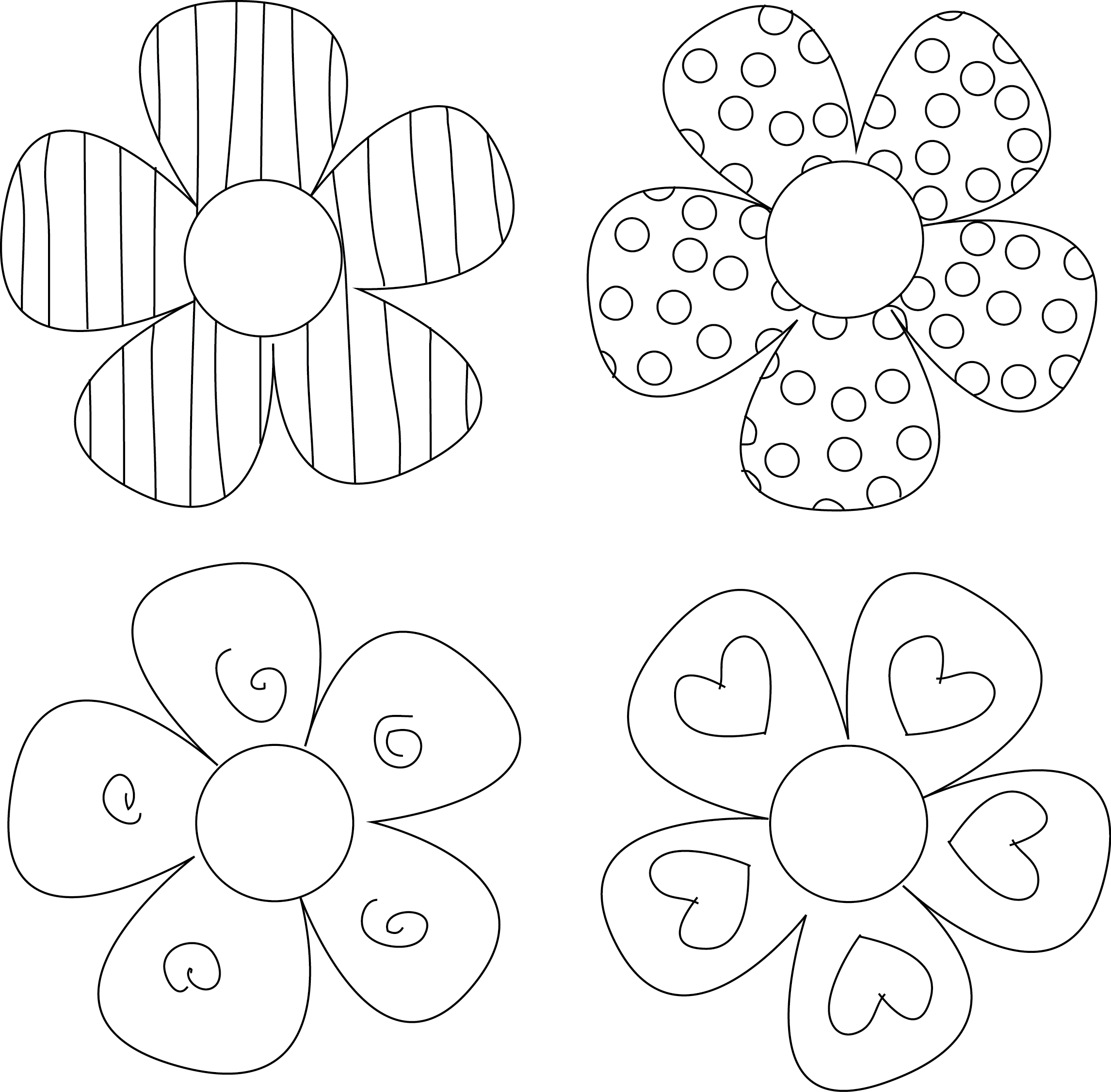 Free printable images of flowers freeuse stock DIY Flower Tutorials You Must Try | Pinterest | Pattern flower ... freeuse stock