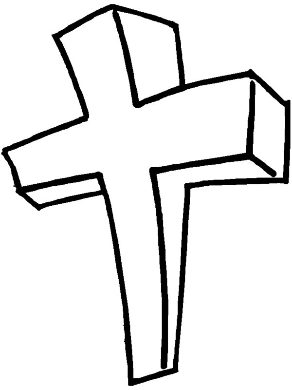 Free printable jesus clipart picture black and white stock Free printable jesus on the cross clipart - ClipartFest picture black and white stock