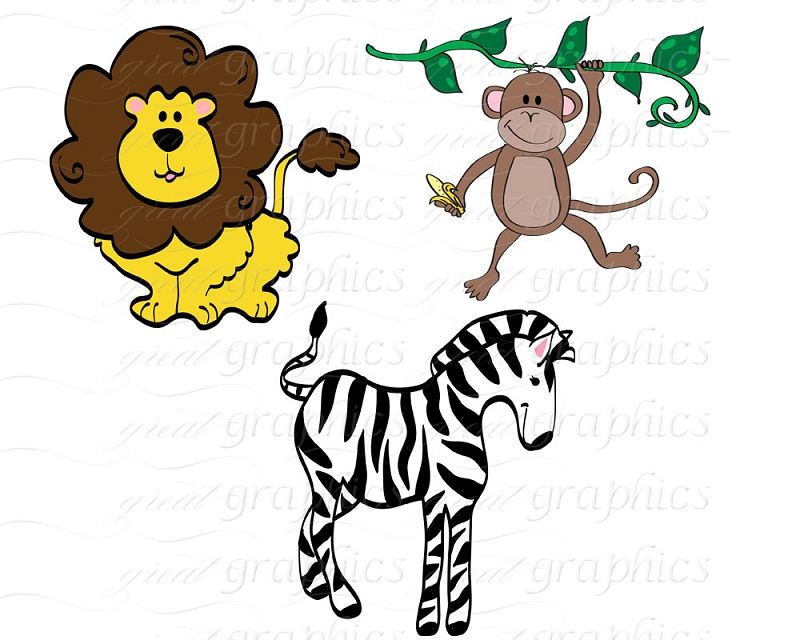 Free printable jungle animal cliparts. Clipart image